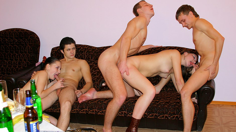 College Party Black Cock